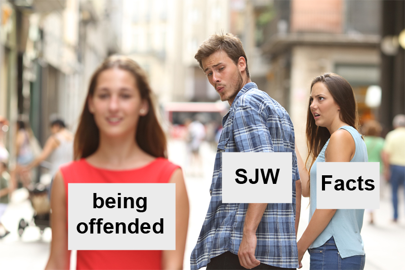 pure savage memes being offended sjw facts holding hands