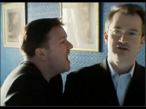 Ricky Gervais Terrorises Fellow Comedian Robin Ince