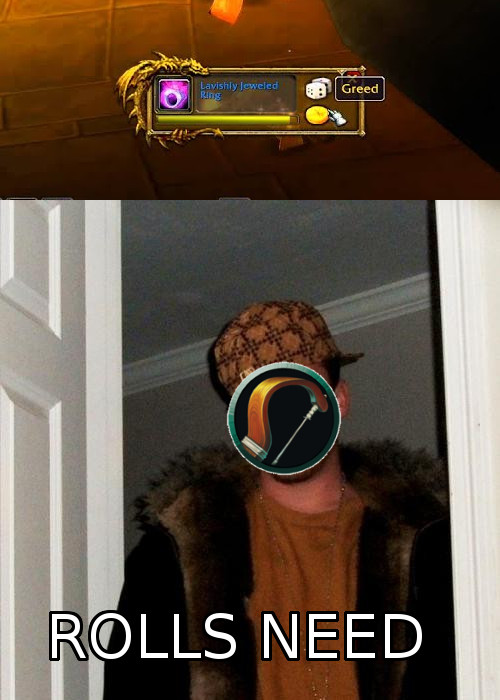 vanilla wow meme scumbag steve hunter lavishly jewelled ring rolls need