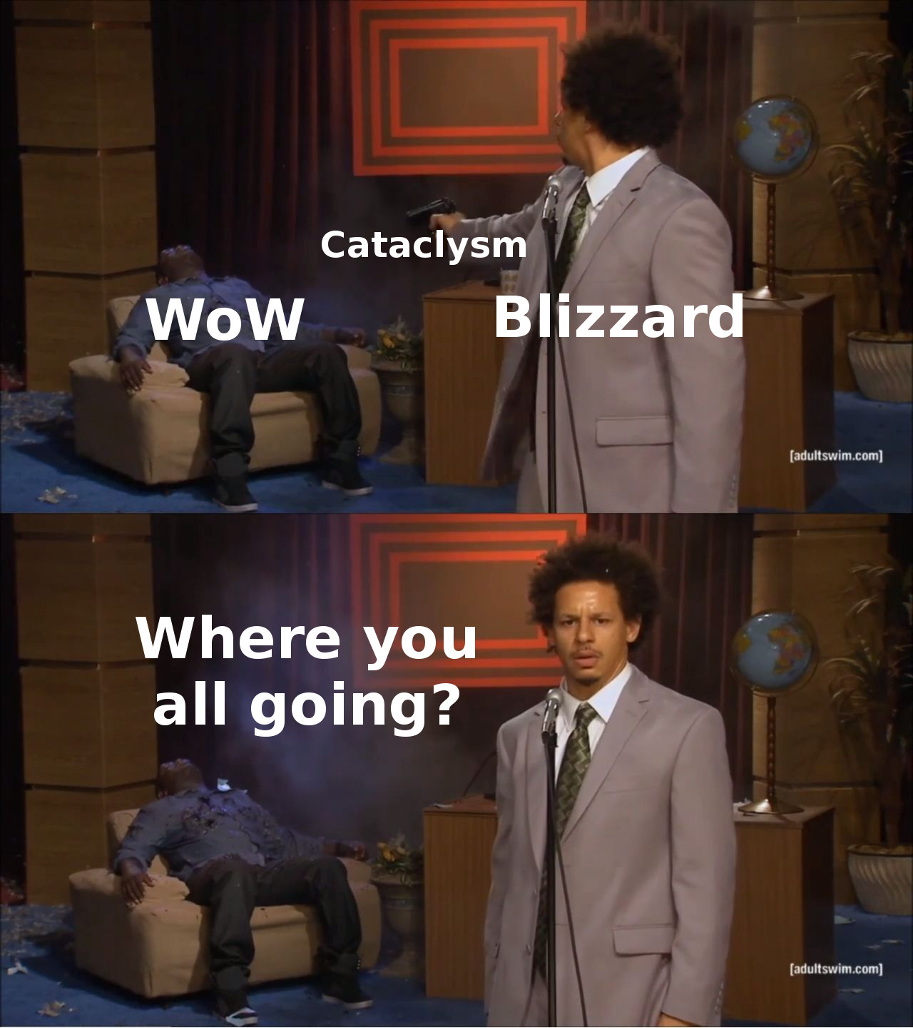 vanilla wow memes blizzard shoot cataclysm